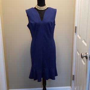 Gently warn navy blue sheath dress